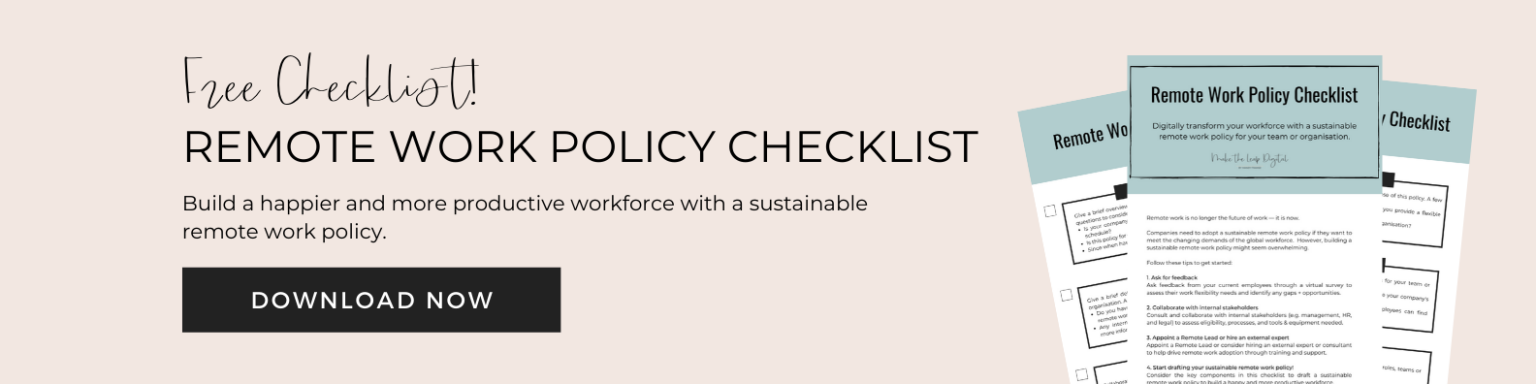 remote work policy checklist